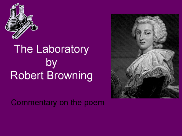 Preview of The Laboratory, Robert Browning