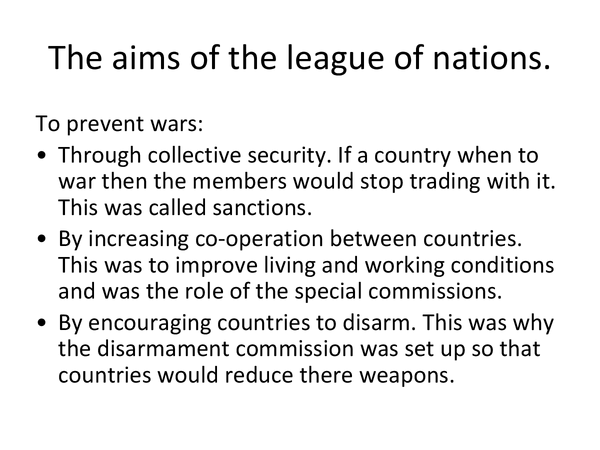 Preview of The league of nations.