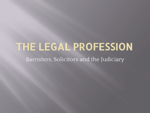 Preview of The Legal Profession