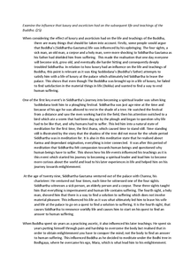 Preview of the life of the buddha- sample essay