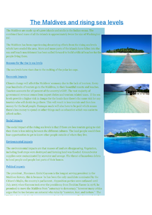 Preview of The Maldives and rising sea levels