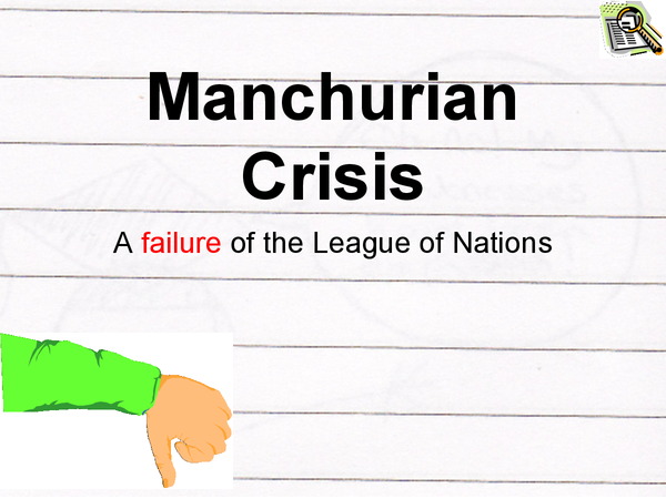 the failure of the league of A secondary school revision resource for gcse history about modern world history, international relations, the league of nations and failures in the 1930s.