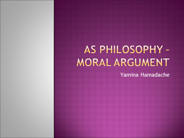 Preview of The Moral Argument for AS Philosophy