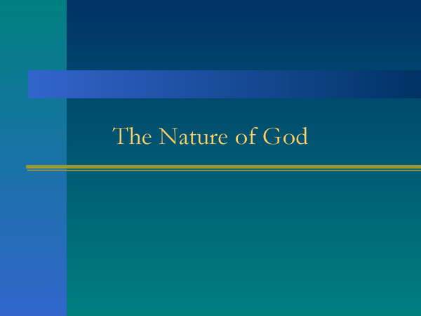 Preview of The Nature of God
