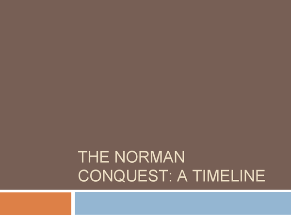 Preview of The Norman Conquest: A Timeline