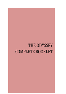 Preview of The Odyssey Books 1-24 Complete Notes