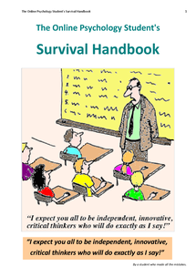 Preview of The Online Psychology Students Survival Handbook