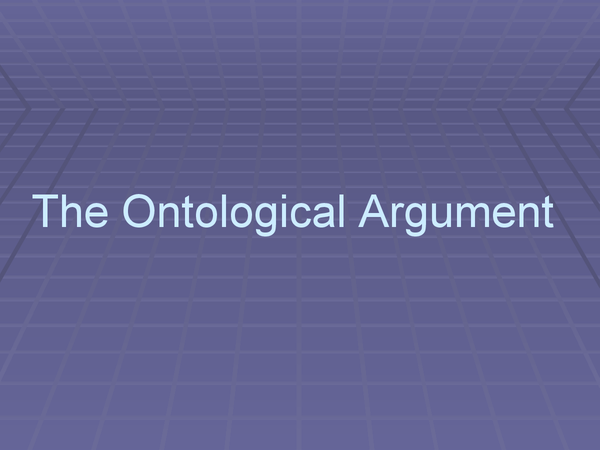 Preview of The Ontological Argument