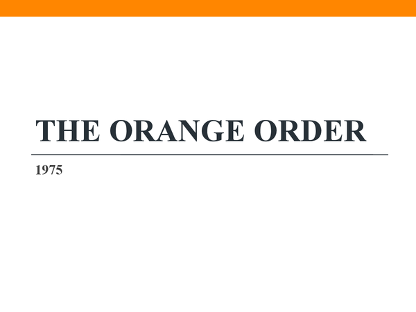 Preview of The Orange Order