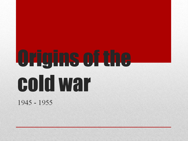 Preview of The Origins of the Cold war