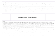 Preview of The Personal Rule 1629-40