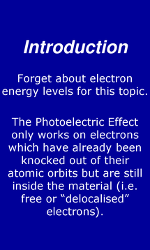 Preview of The Photoelectric Effect - smart phone physics