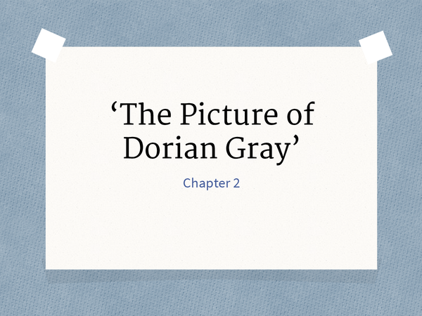 Preview of The Picture of Dorian Gray Chapter 2
