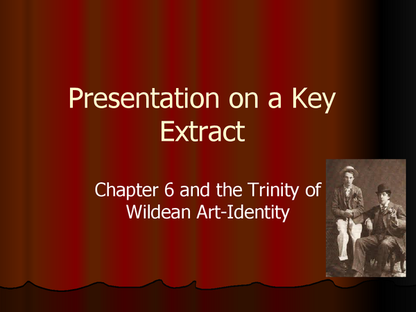 Preview of The Picture of Dorian Gray (Oscar Wilde) - Chapter VI Analysis