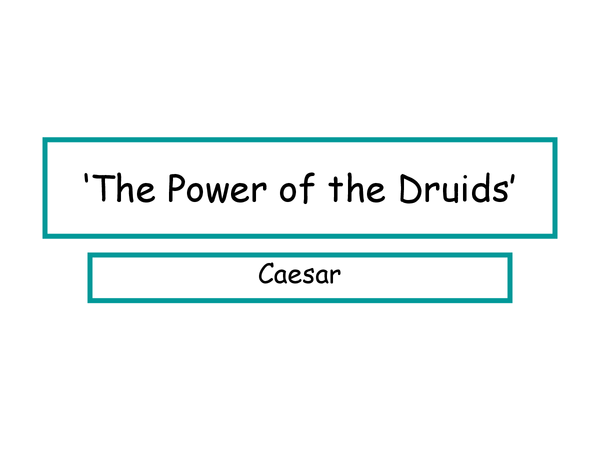 Preview of The power of the Druids questions