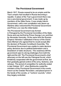 Preview of the Provisional Government