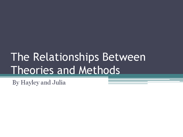 Preview of The Relationships Between Theories and Methods. Sociology AQA A2