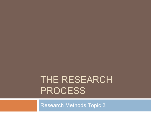 Preview of The research process
