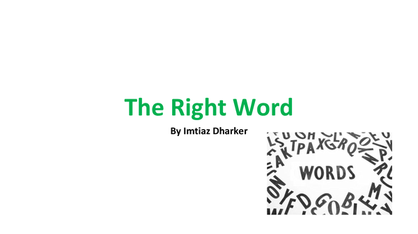 Preview of The Right Word Analysis