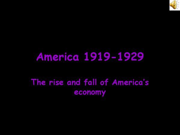 Preview of The rise of America's economy- WJEC