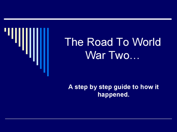 Preview of The Road To World War Two