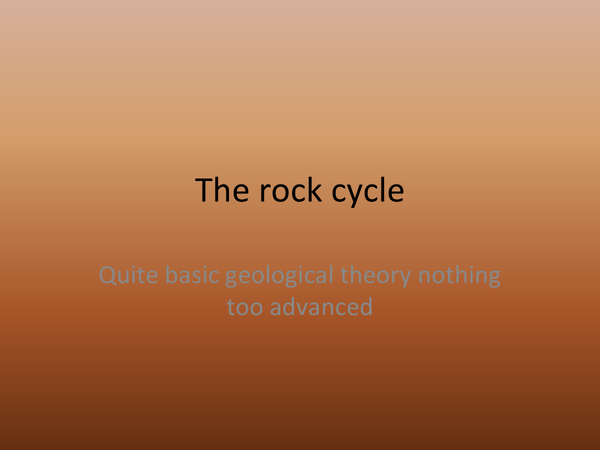 Preview of the rock cycle basic