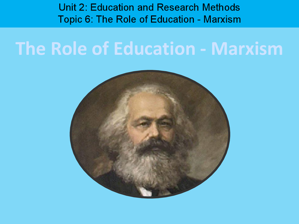 Preview of The Role of Education (Marxism)
