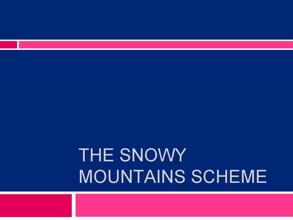 Preview of The Snowy mountains scheme