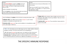Preview of The specific immune response (SNAB)