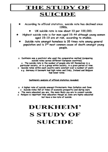 Preview of The Study Of Suicide SCLY4