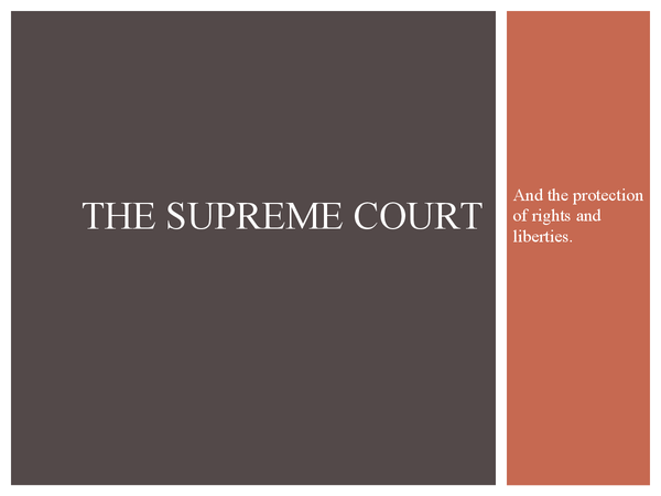 Preview of The supreme court