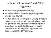 william paley teleological argument essay Read this essay on explain paley's argument for the existence of william paley made the argument about the teleological argument for the existence of.