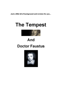 Preview of The Tempest and Doctor Faustus Revision Guide