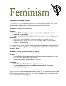 Preview of The three main aspects of feminism