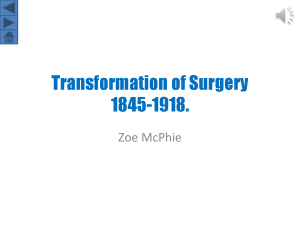 Preview of The Transformation of Sugery