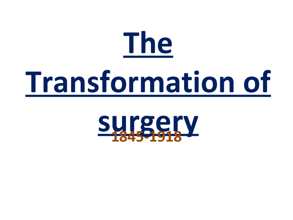 Preview of The Transformation of Surgery Timeline