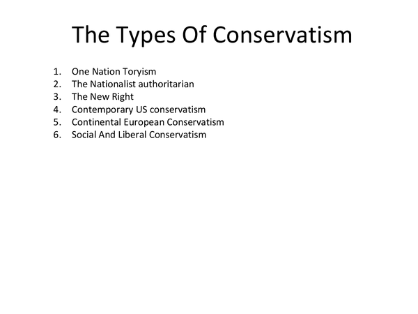 Preview of The Types Of Conservatism