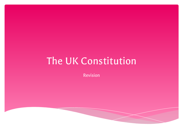 Preview of The UK Constitution