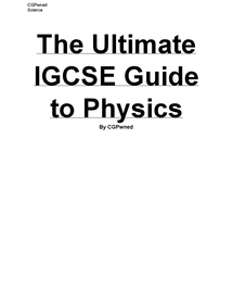 Preview of The Ultimate IGCSE Physics Guide