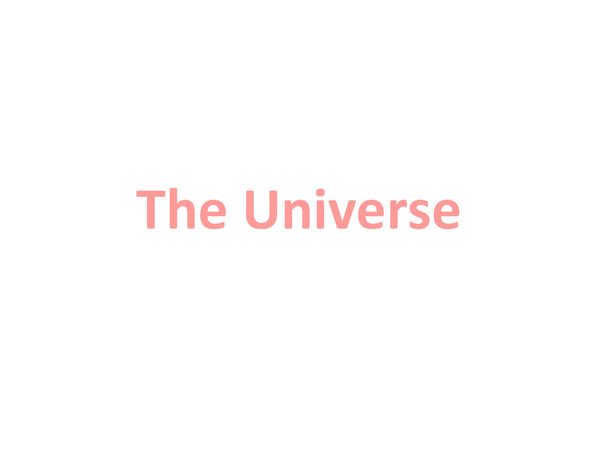 Preview of The Universe (OCR Unit2 Module5)