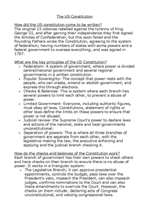 Preview of The US Constitution