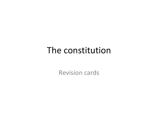 Preview of The US constitution unit 4- Revision cards