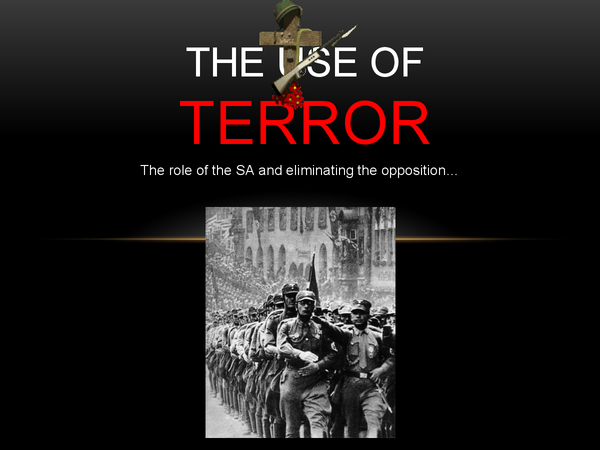 Preview of The use of Terror in Nazi Germany