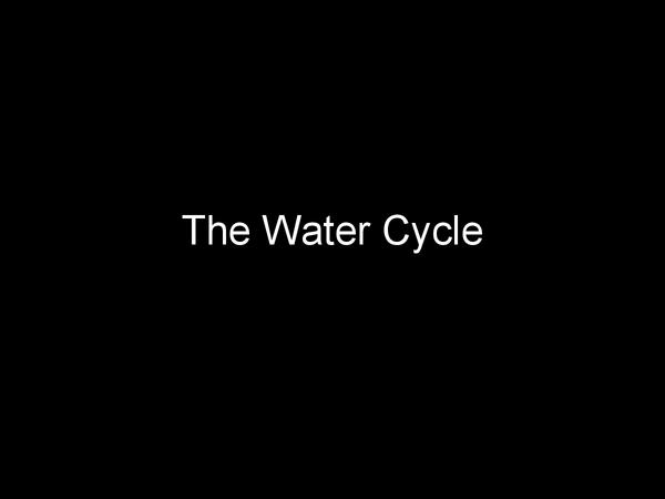 Preview of The water cycle