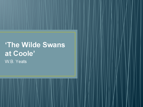 Preview of The Wild Swans at Coole by W.B. Yeats