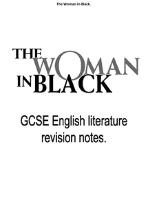"Preview of ""The Woman in Black"" revision notes"