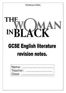 Preview of The Woman in Black- Susan Hill Revision notes pdf