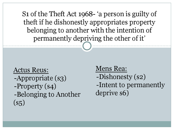 Preview of Theft OCR A2 LAW