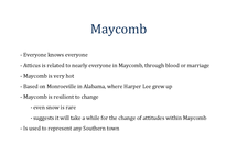 Preview of Themes of Maycomb