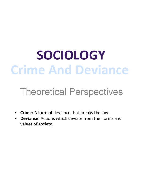 Preview of Theoretical Perspectives on crime and deviance
